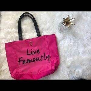 {JUICY COUTURE}  live famously hot pink tote bag